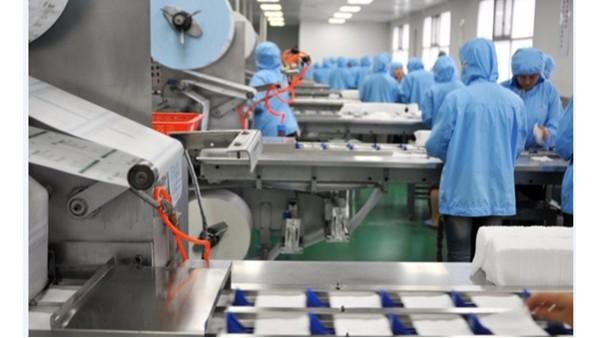 医用口罩、纱布生产线----针式吸盘取代人工取料